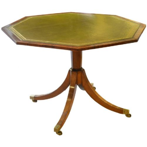 a george iii satinwood and rosewood octagonal centre table