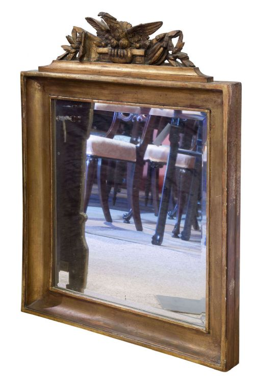 gilded rectangular wall mirror c1820