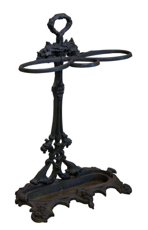 a handsome victorian cast iron stick stand