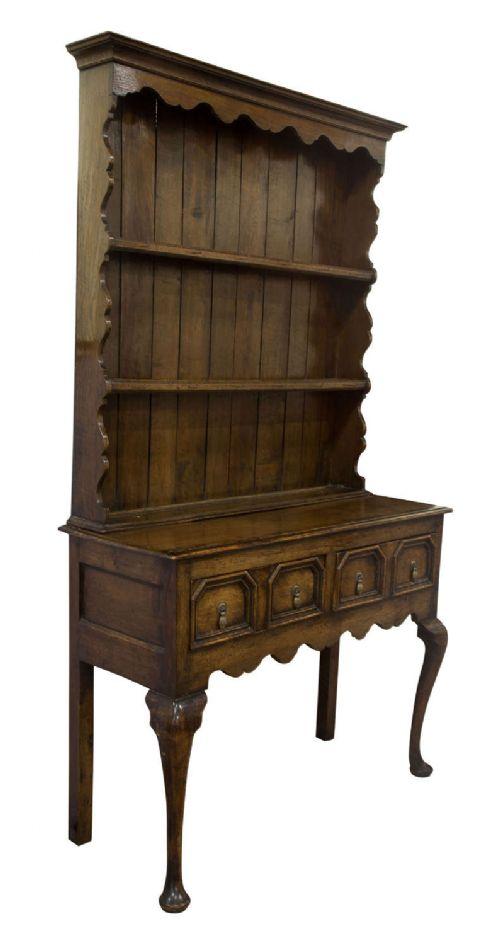 george iii oak dresser of small proportions