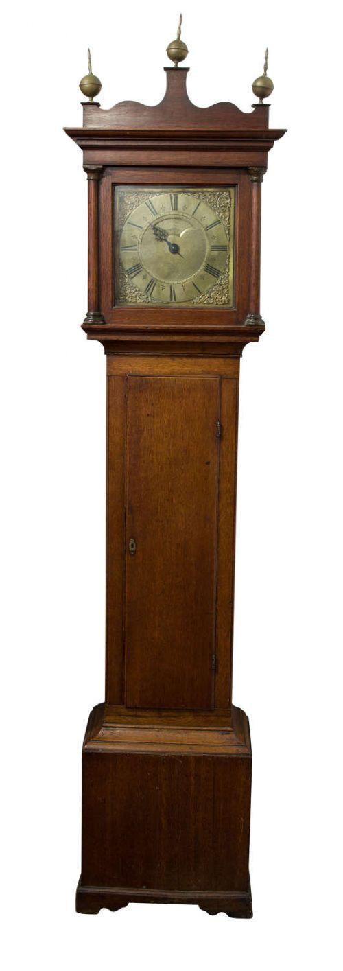 18thcentury oak 30 hour longcase clock by bennett edwards circa 1780