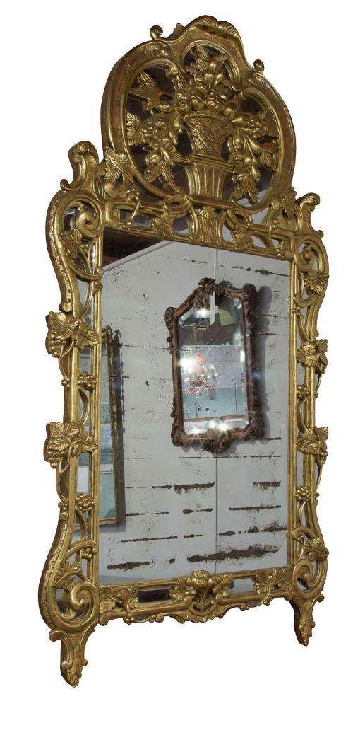 large regency style french gilt mirror c1900