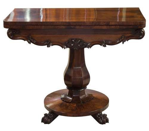 regency rosewood card table c1820