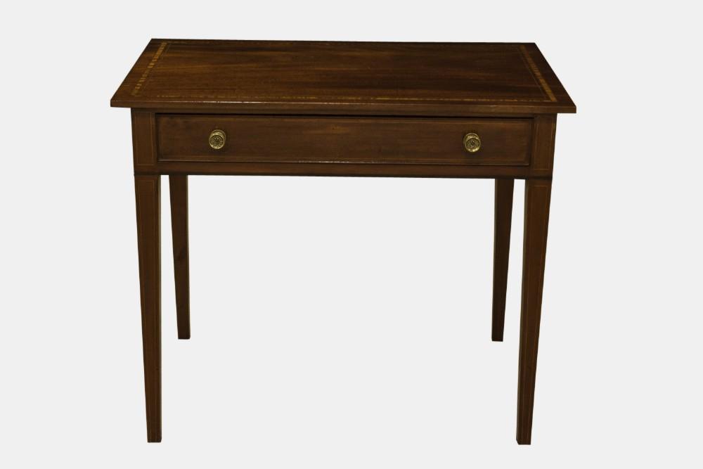 Good Single Drawer Mahogany Side Table