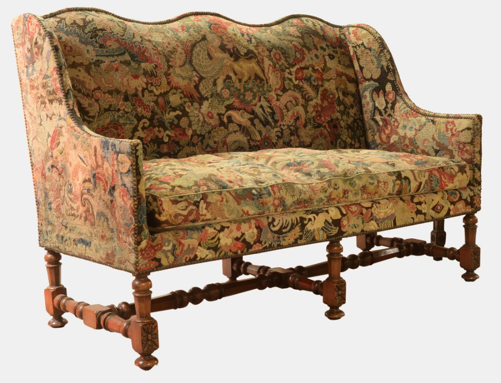 Louis xiv style walnut framed sofa 445577 - Louis xiv sofa ...