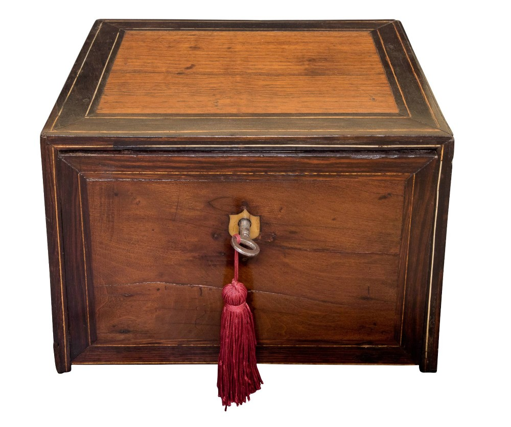 a rare continental 18thc ladies travelling chest