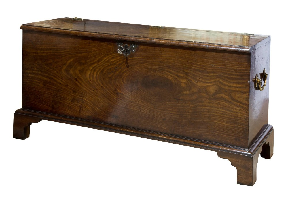 mahogany muniment or deed chest stamped 1844