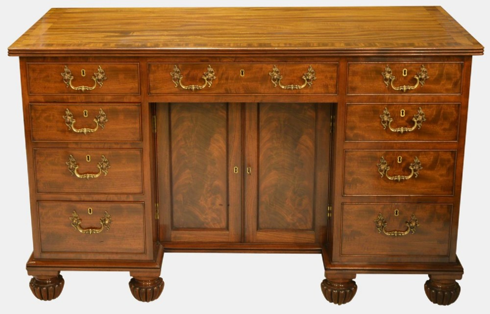 george iii cuban mahogany kneehole desk stamped gillows of lancaster