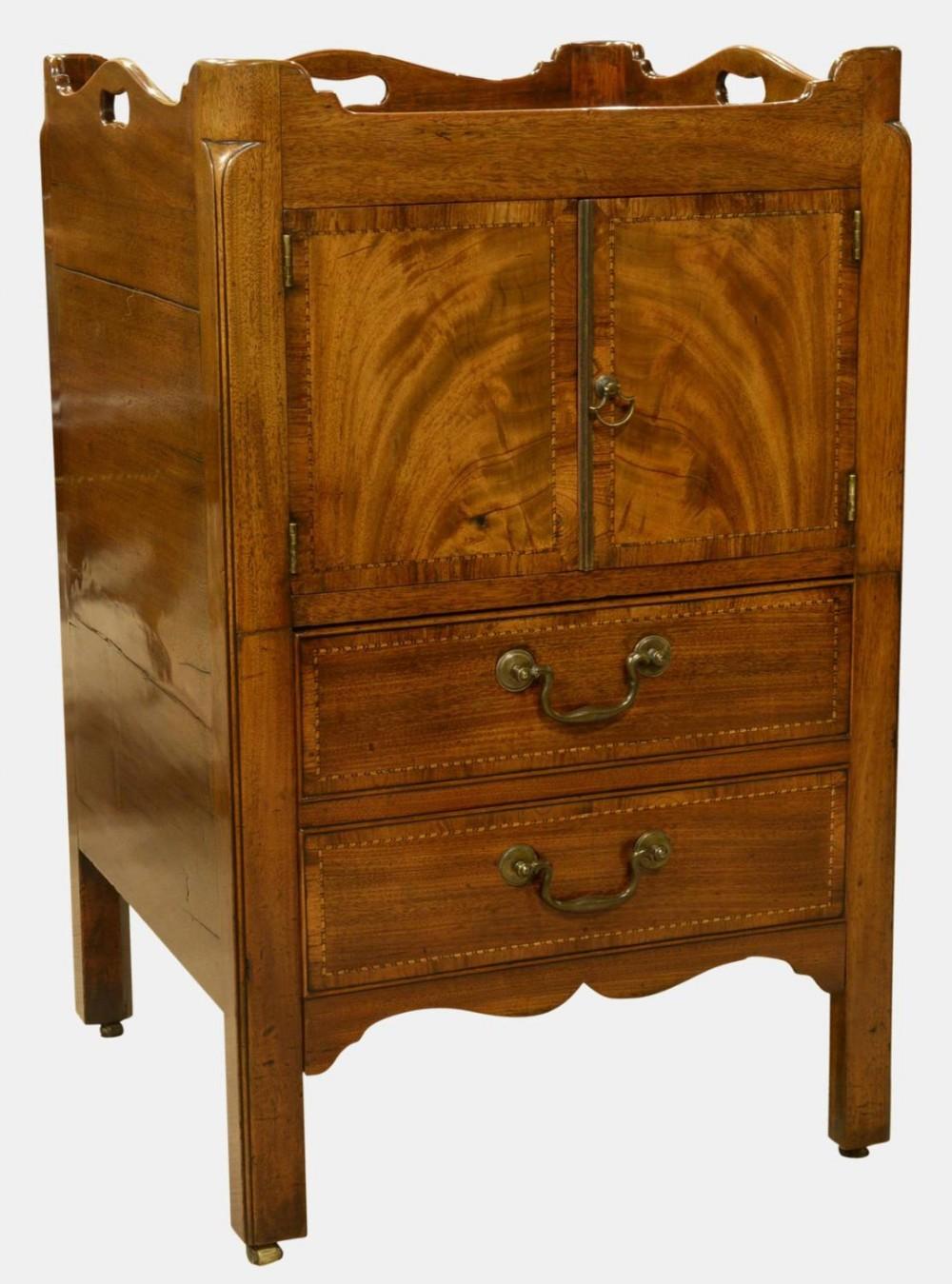 18th century mahogany tray top night table