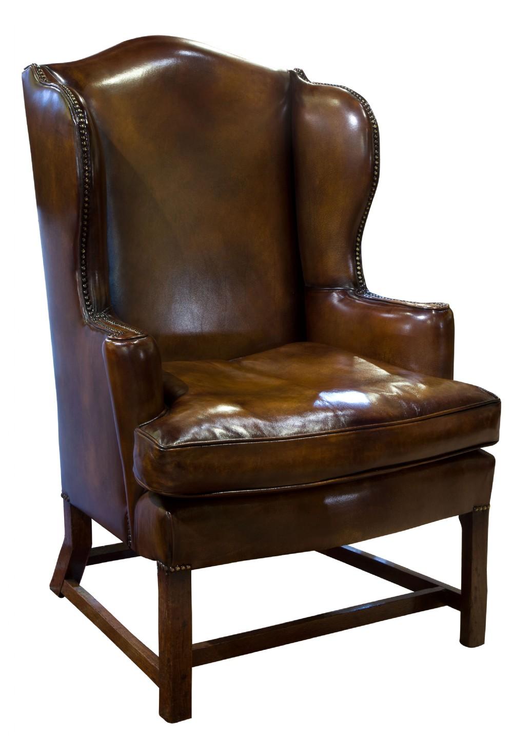 18thc oak framed wing chair c1760