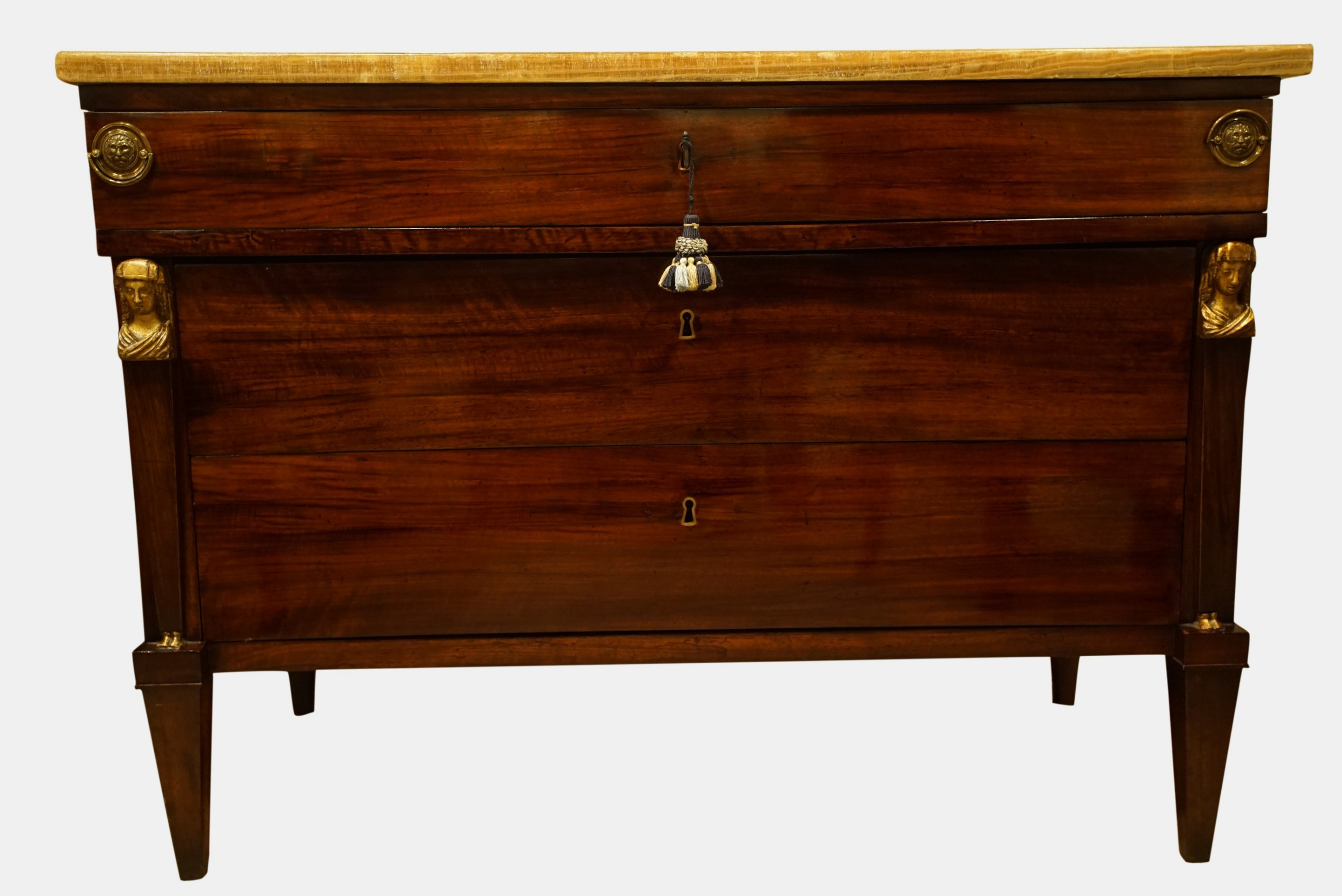 a louis philippe mahogany commode