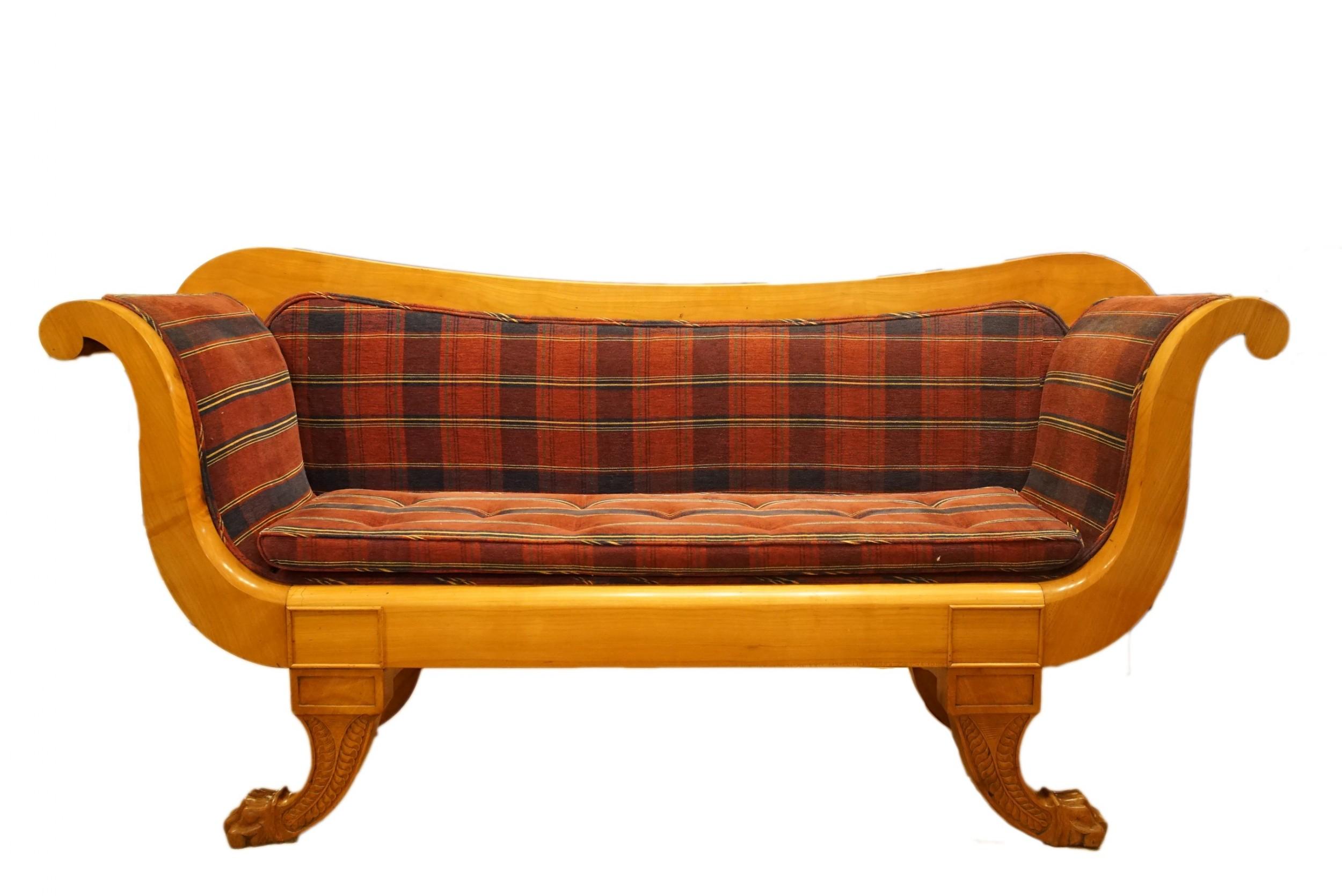 william iv satin walnut sofa