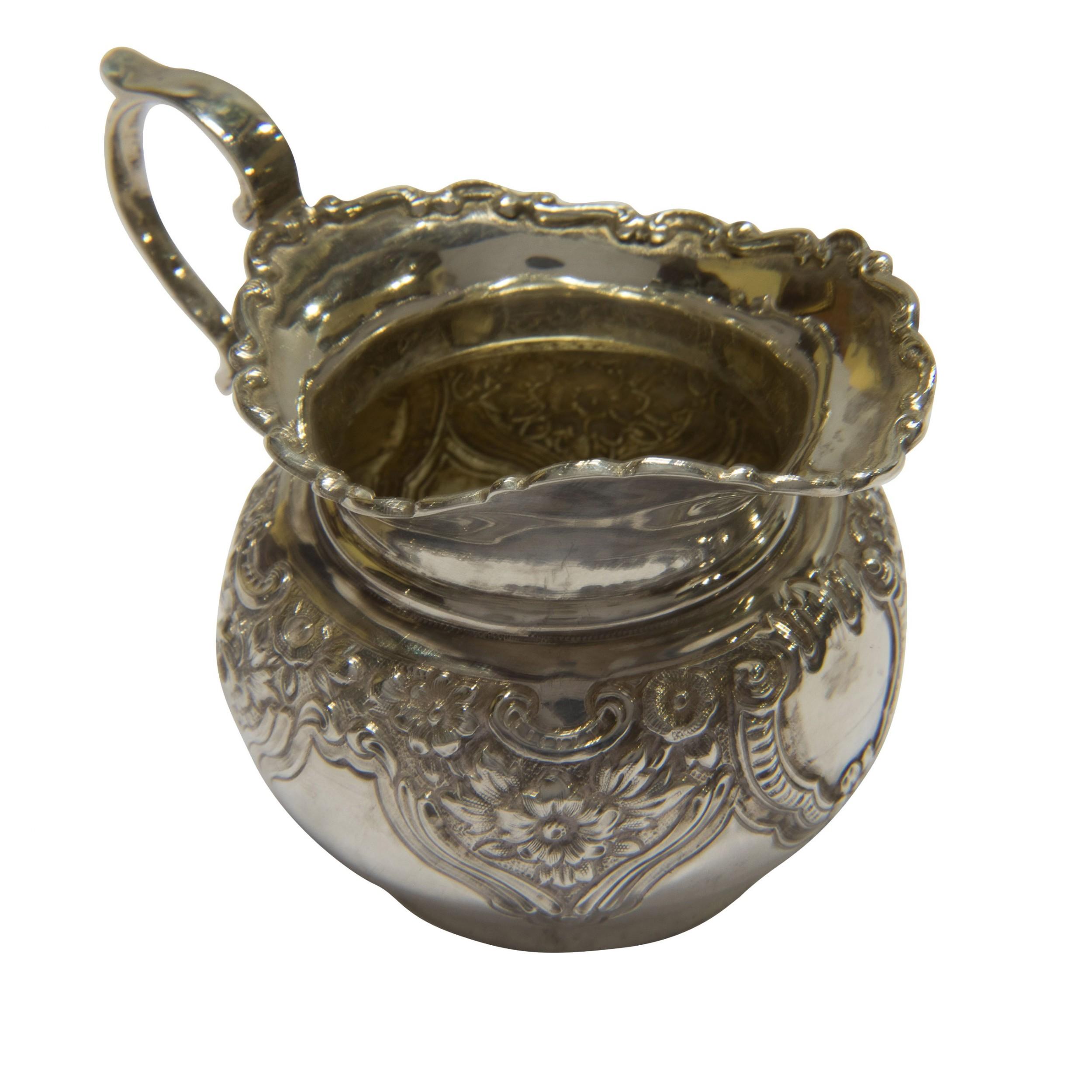 silver cream jug birmingham 1902