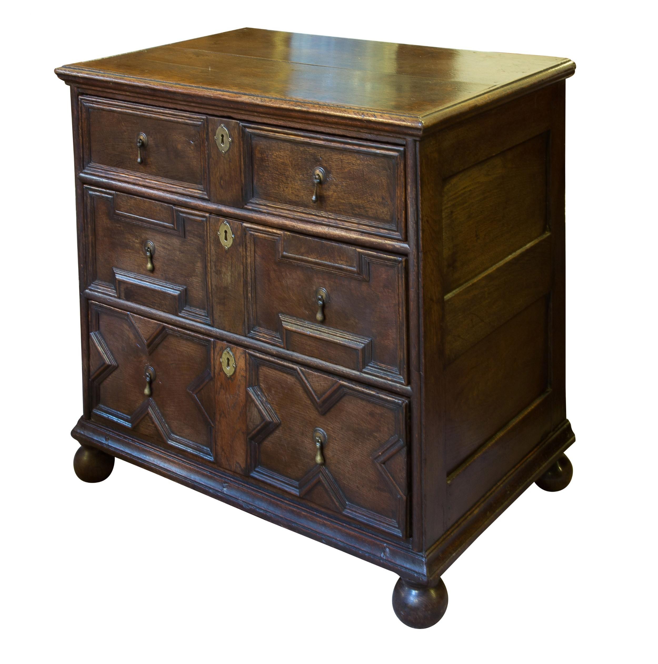 william mary small oak chest of drawers