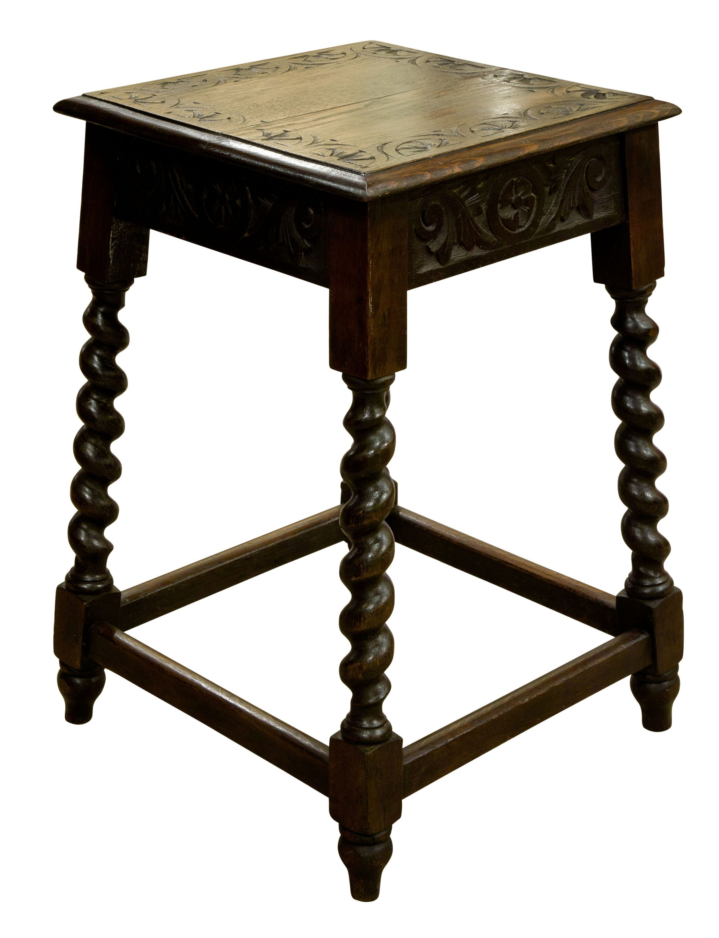 carved oak occasional table c1880