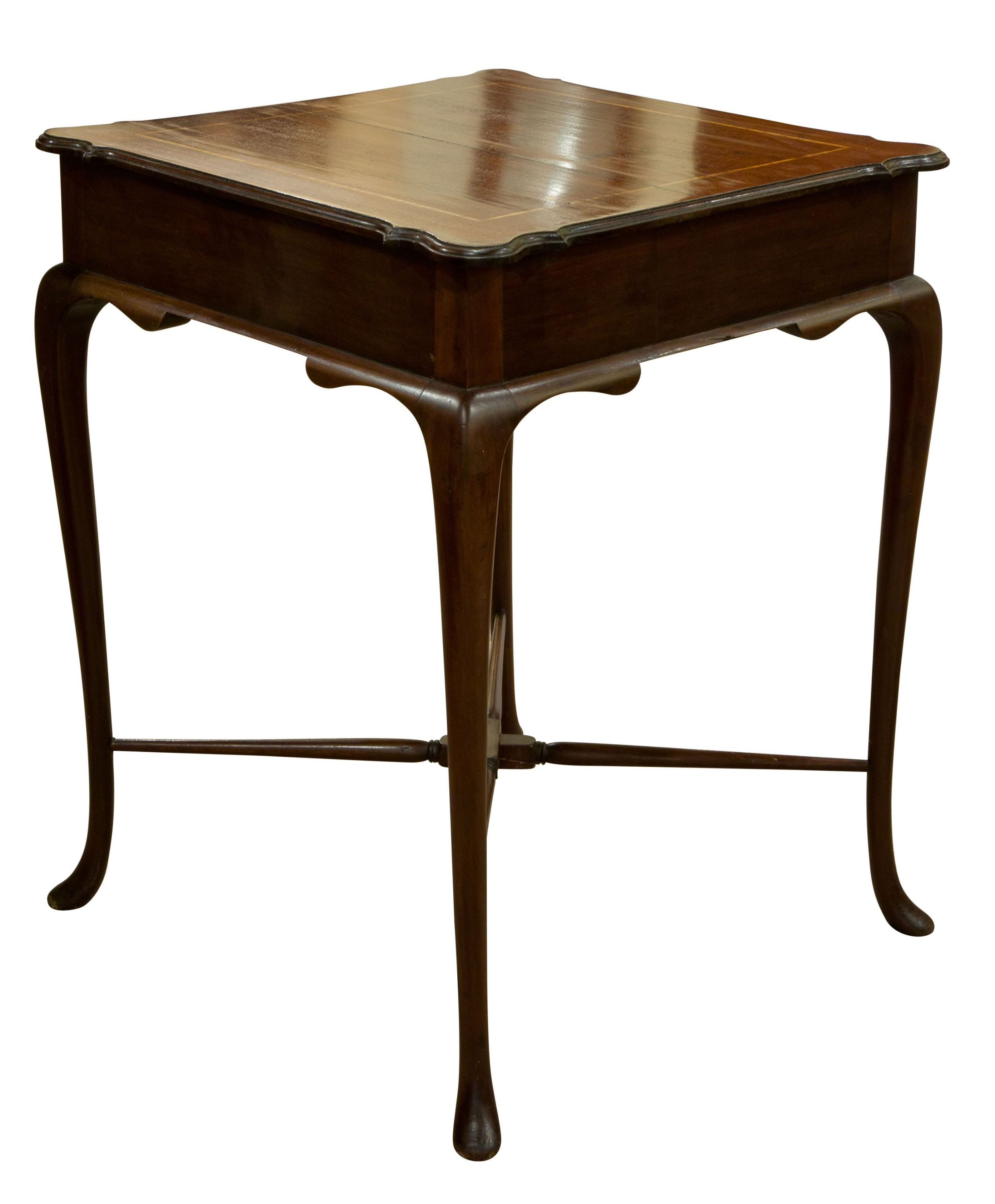 inlaid mahogany occasional table