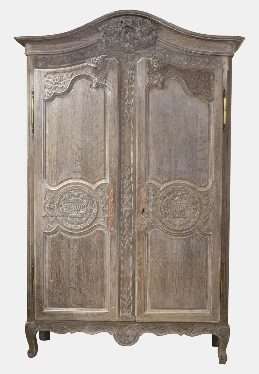 french limed oak marriage armoire 322078. Black Bedroom Furniture Sets. Home Design Ideas