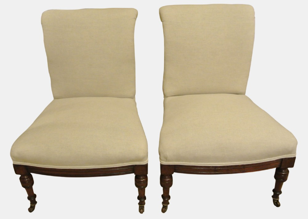 the pair of mahogany bedroom chairs has been added to your saved items