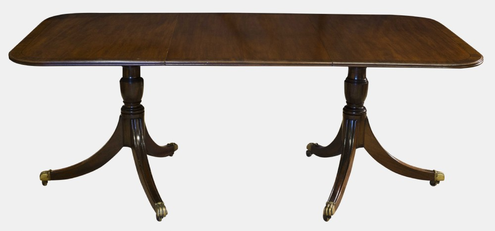 Regency style mahogany 2 pillar dining table 328408 for Pillar dining table