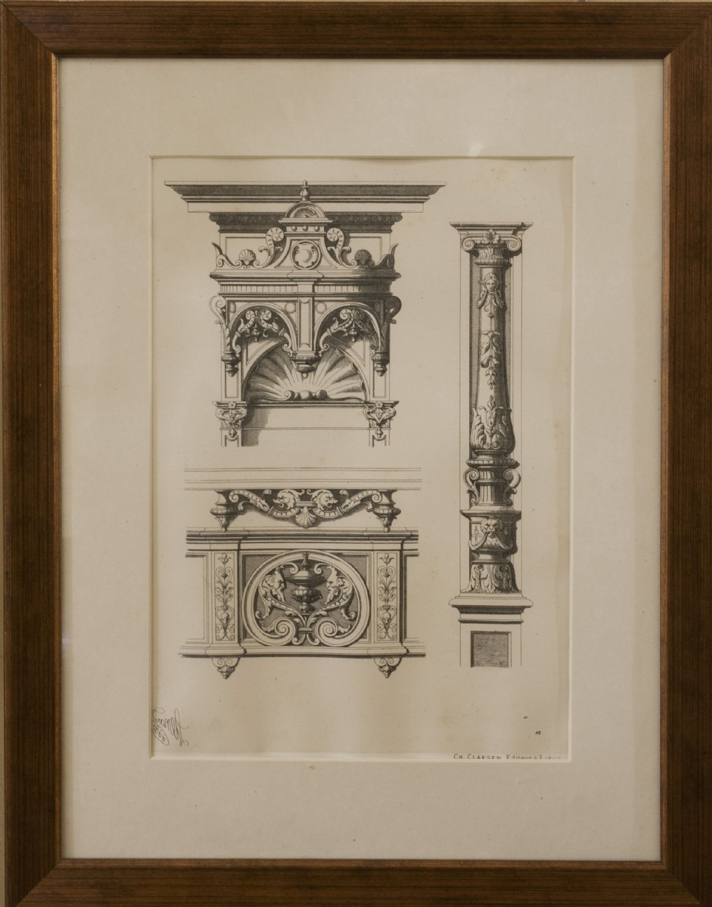 Set of 4 architectural prints 274576 for Architecture antique