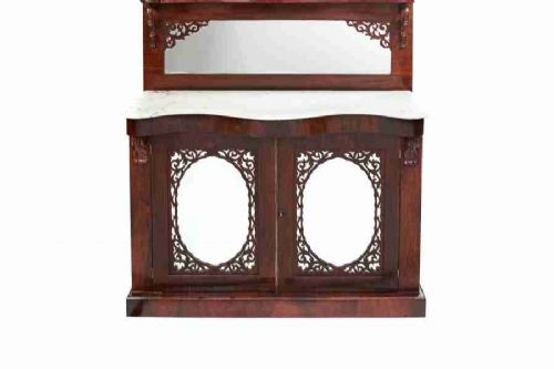 early victorian rosewood marble top chiffonier