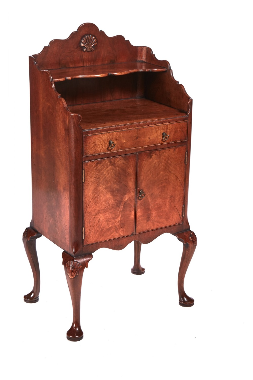 georgian revival walnut side cabinet c1920s
