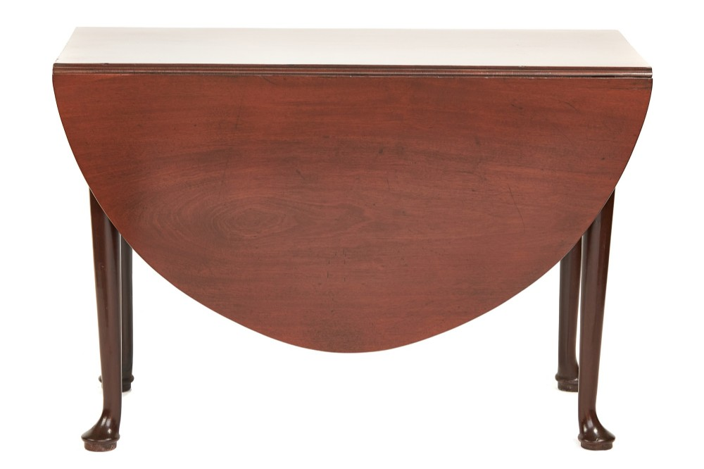 georgian mahogany single drop leaf pad foot table