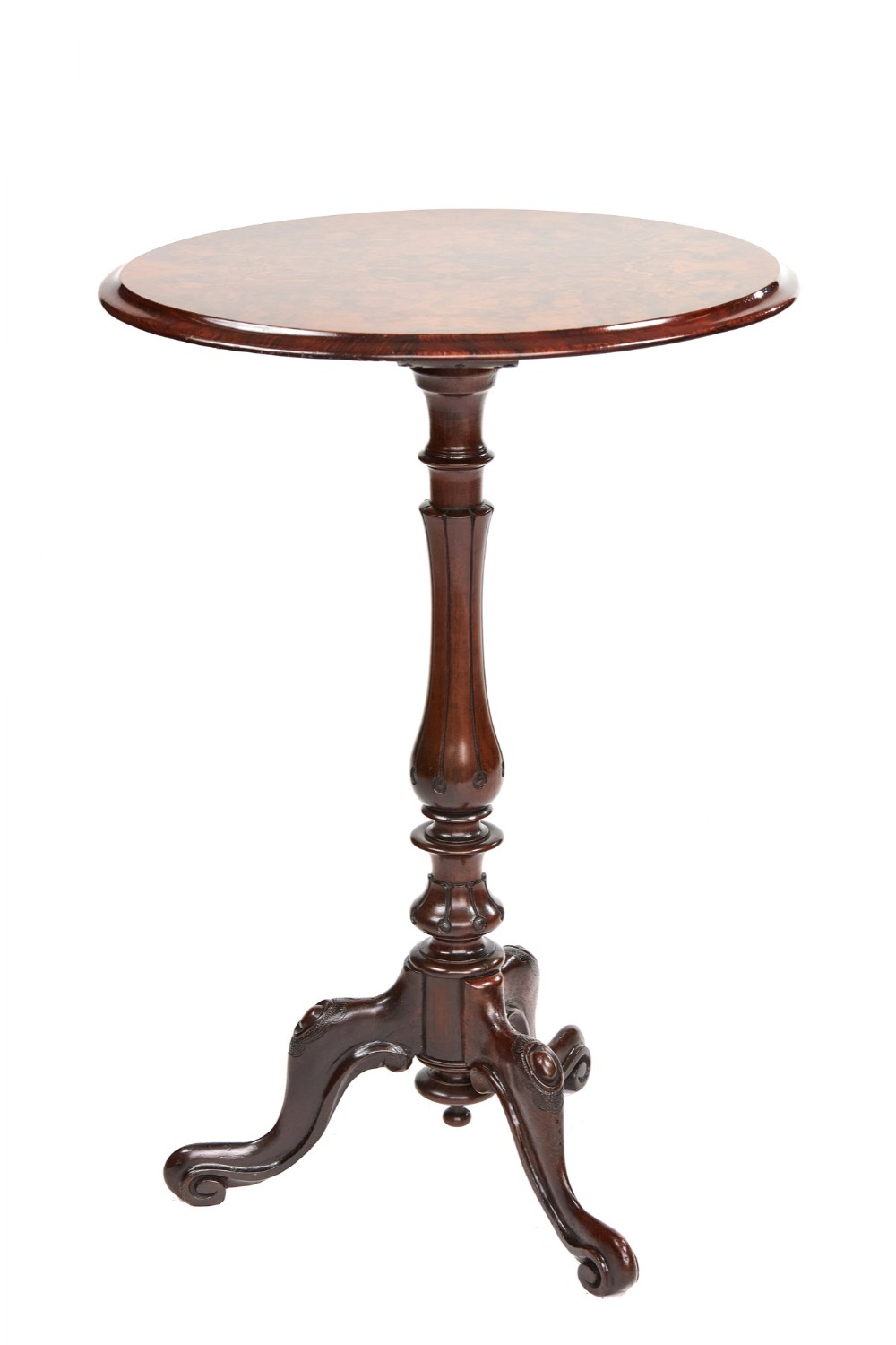 early victorian rosewood walnut lamp table