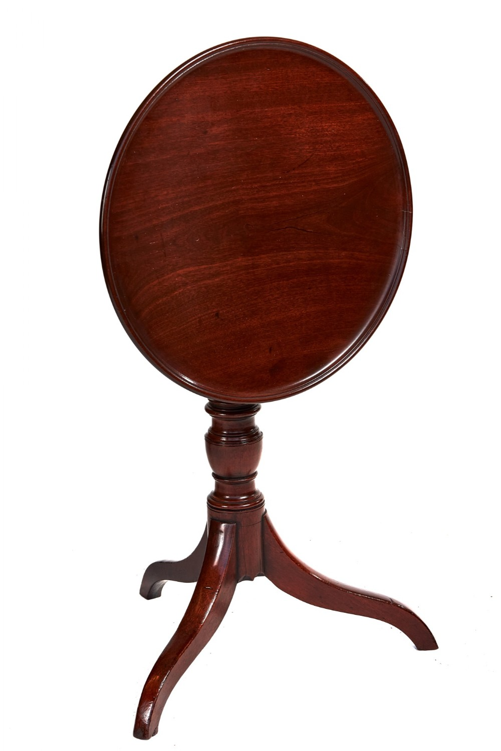 georgian mahogany circular dish top tip up table