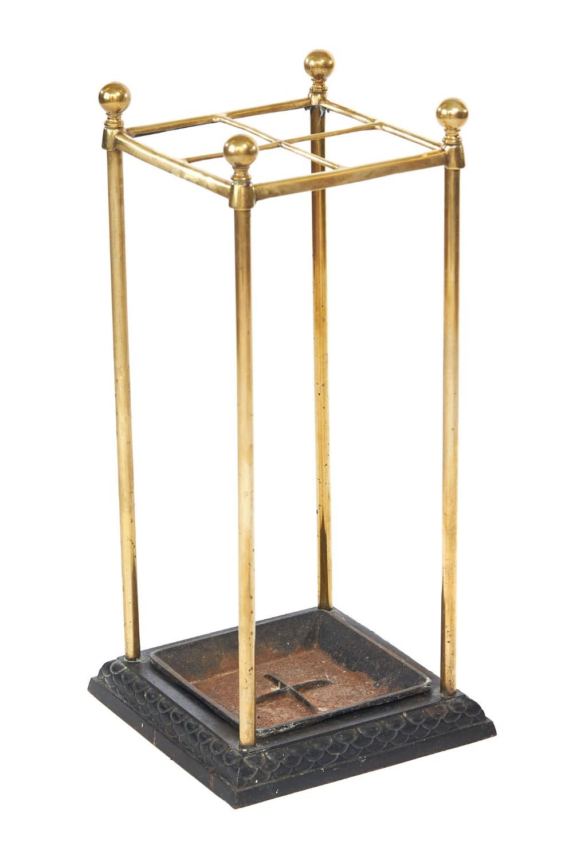 victorian brass iron umbrella stick stand