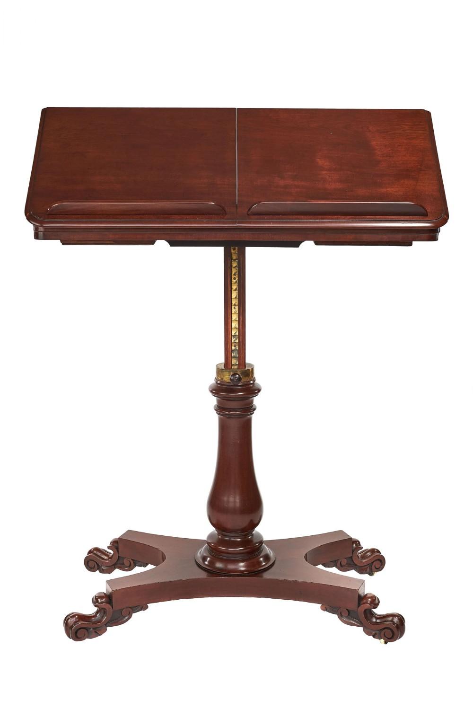 w1v mahogany telescopic duet reading table