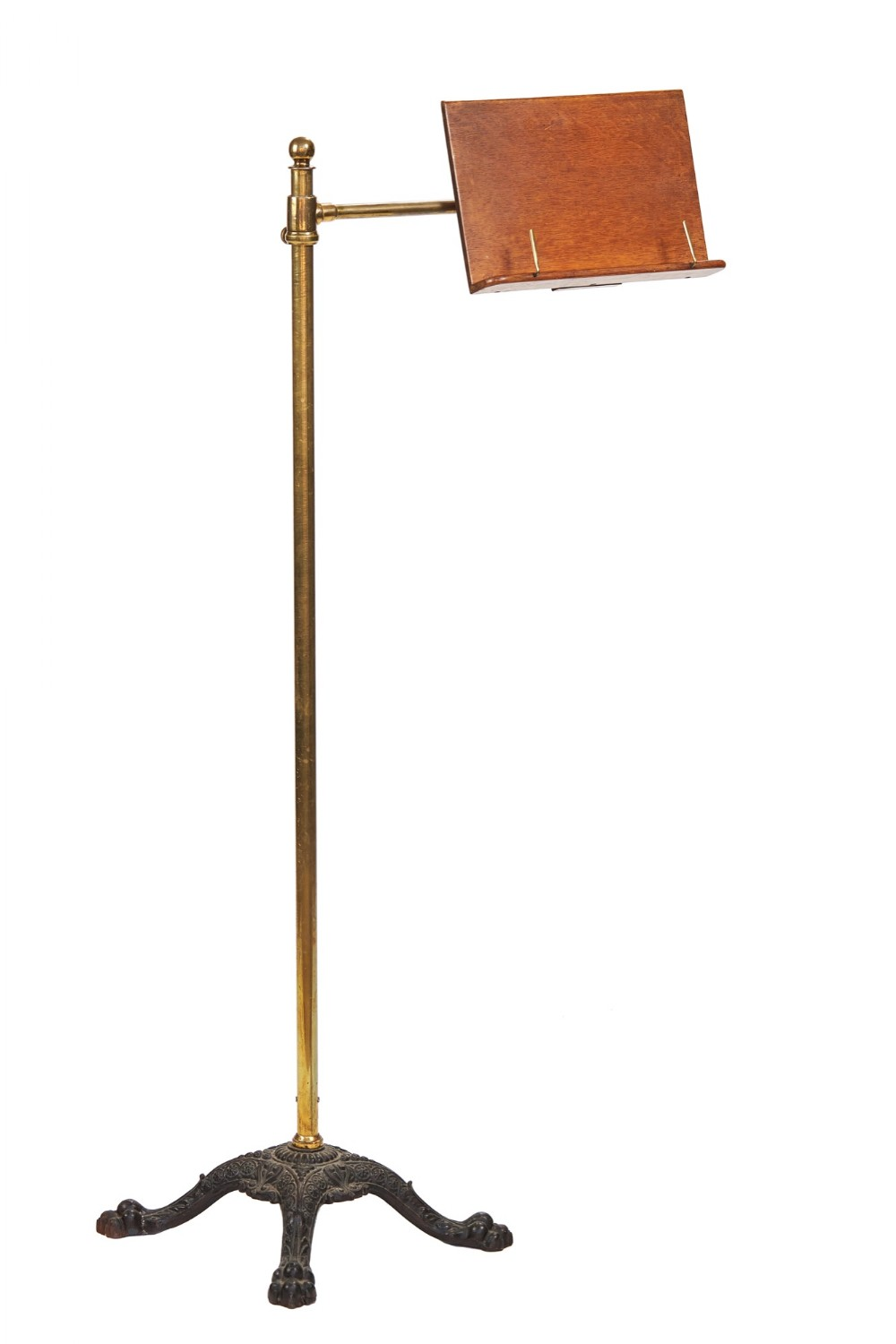 victorian carters brass iron reading stand
