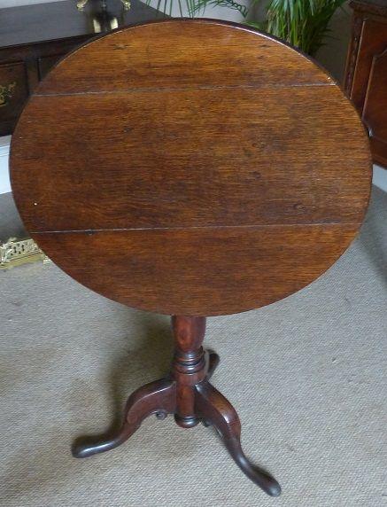 a 19th century oak wine table