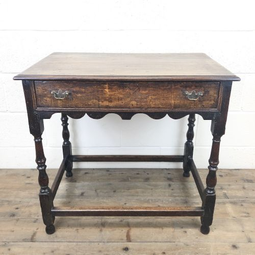 18th century oak side table with drawer