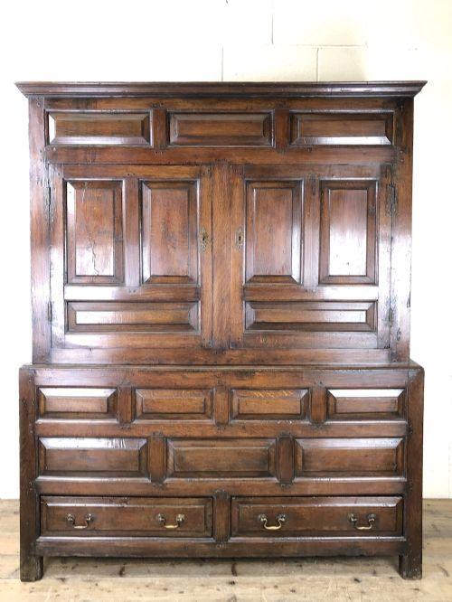 large 18th century welsh oak hanging cupboard