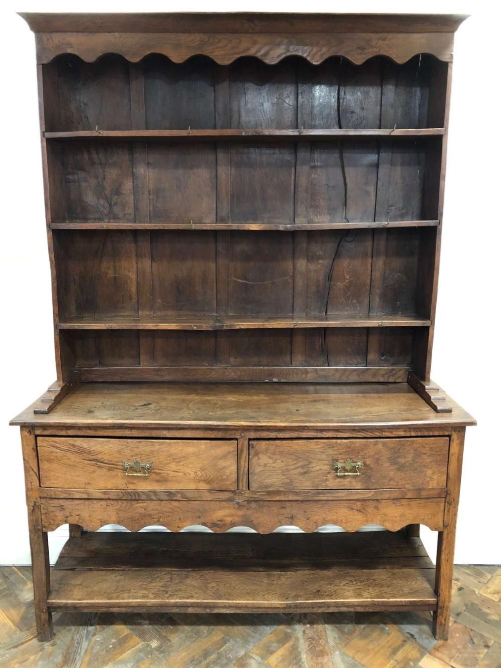 antique welsh oak potboard dresser