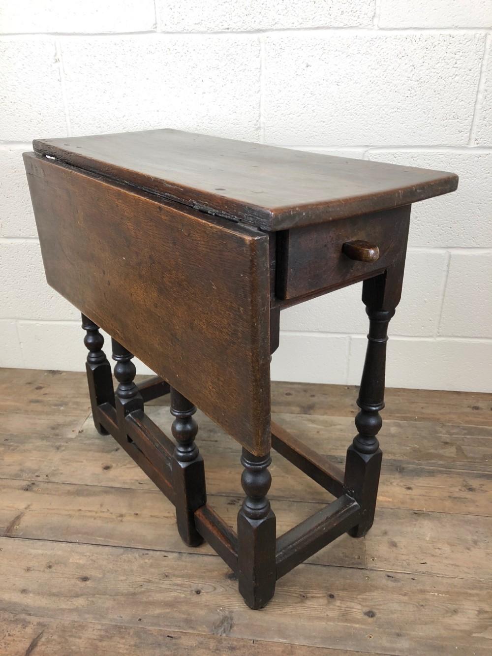18th century antique oak gate leg yeomans table