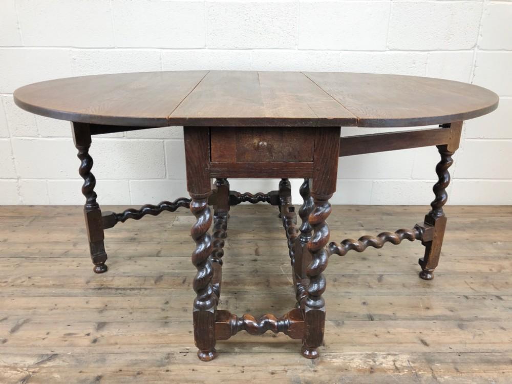 18th century welsh oak gate leg table