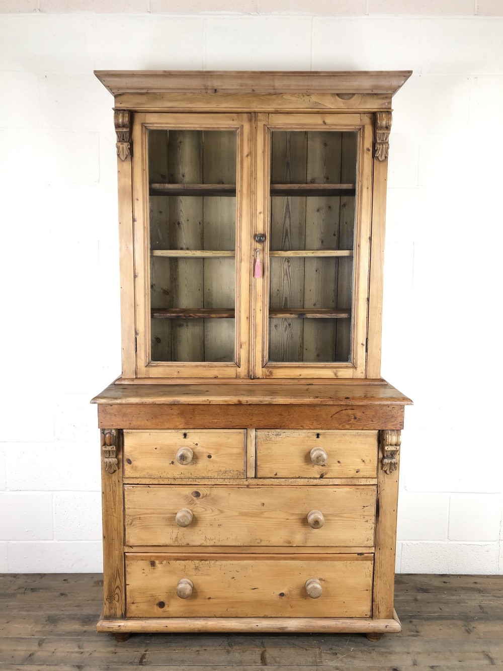 Picture of: Antique Victorian Pine Dresser With Glazed Top 727873 Sellingantiques Co Uk