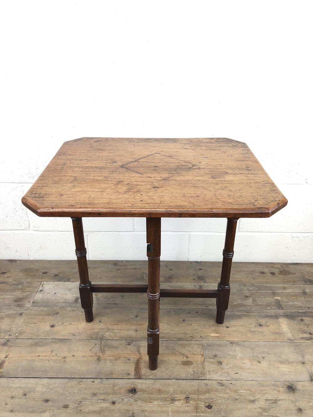 antique 19th century mahogany folding table
