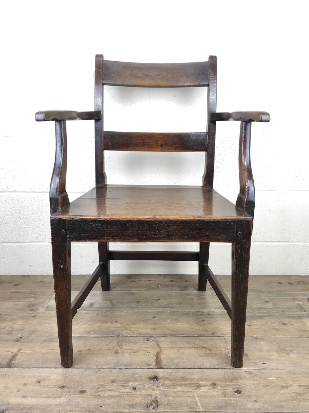 antique 19th century welsh oak armchair