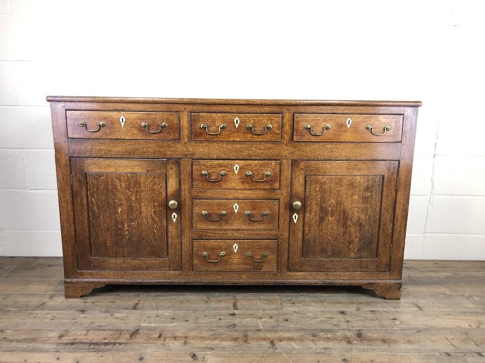 antique george iii oak dresser base