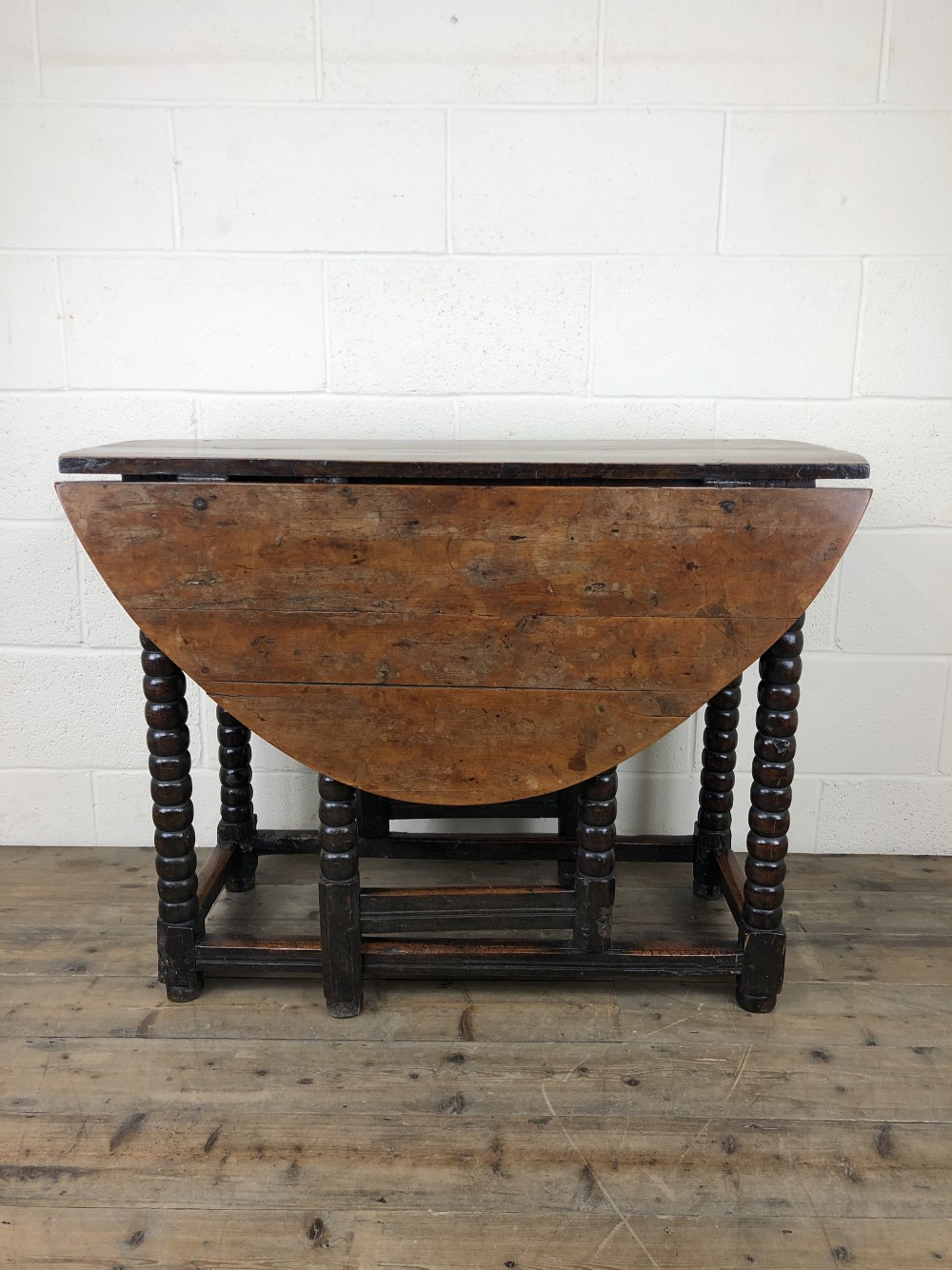 early 18th century yew fruitwood gate leg table