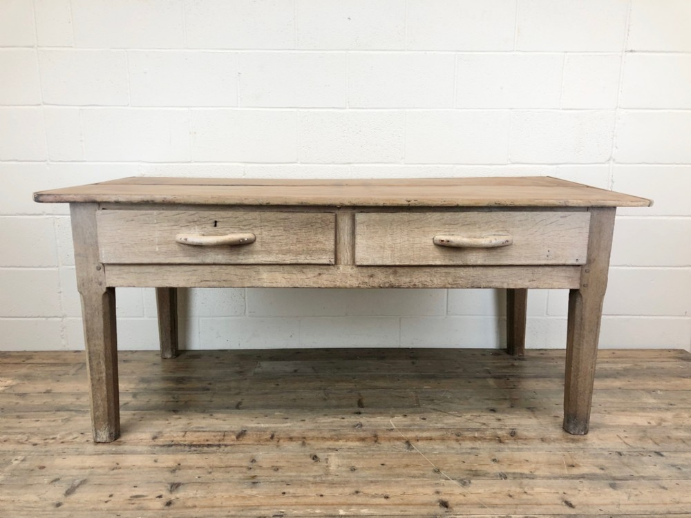 early 20th century antique oak and pine work table