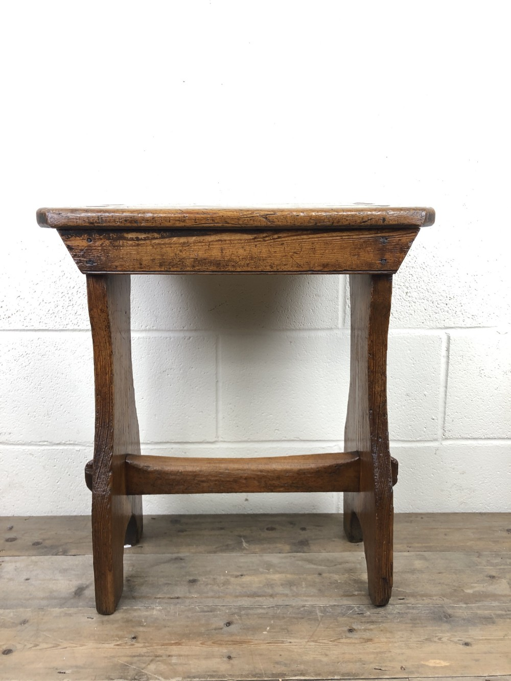 early 19th century welsh pine chapel stool
