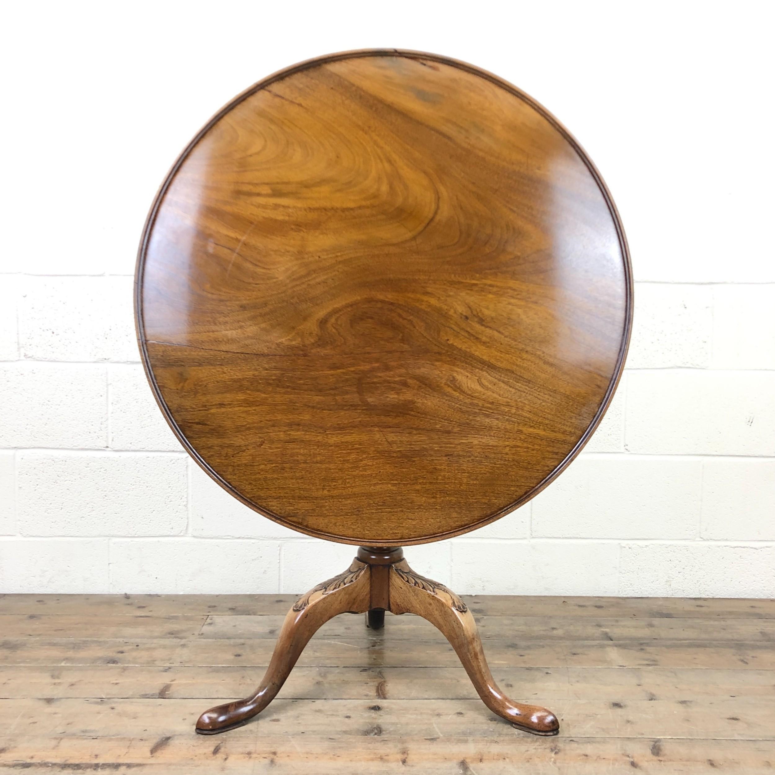 georgian mahogany birdcage pedestal table