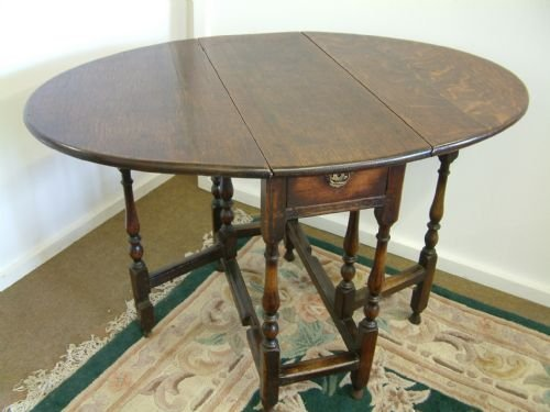 small oak country gateleg table