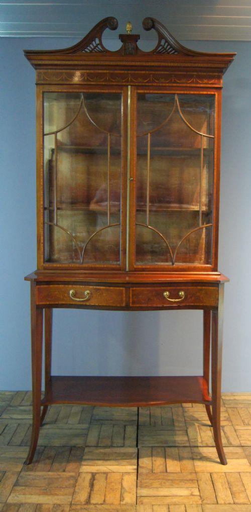 Pendle Antiques · EDWARDIAN MAHOGANY CHINA DISPLAY CABINET - Antique China Cabinets - The UK's Largest Antiques Website
