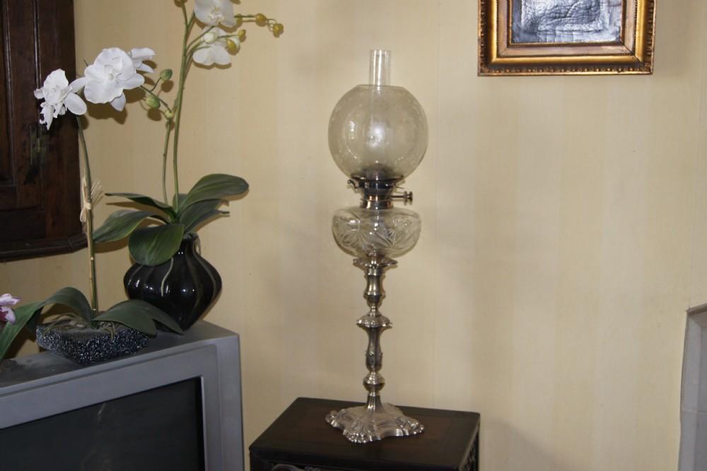 original sterling silver oil lamp