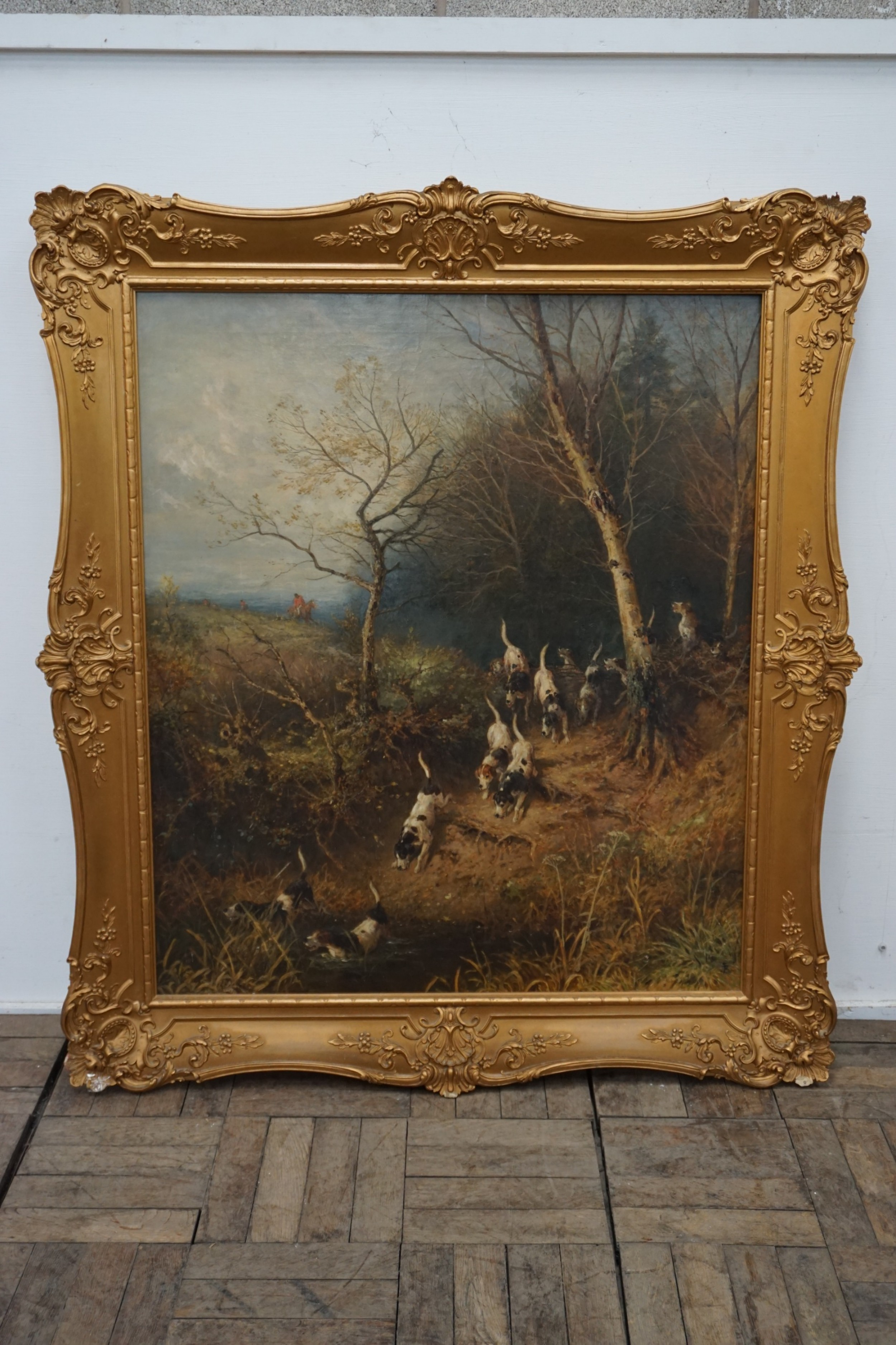 an outstanding oil painting by the renowned victorian artist myles birkettfoster